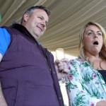 Crowds amazed at a wedding fayre