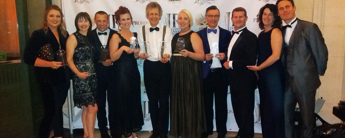Luke receiving award for best wedding entertainment