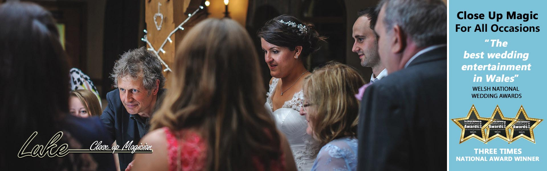 Magic for bride and her family